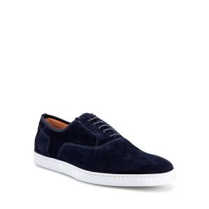 Santoni Men's Bodice Suede Oxford Sneakers - Size: 7D - BLUE-U75