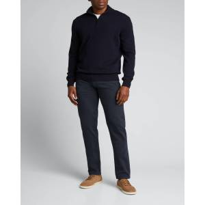 Loro Piana Men's Classic Baby Cashmere Mezzocollo Sweater - Size: 50 EU (40 US) - W000 BLUE NAVY