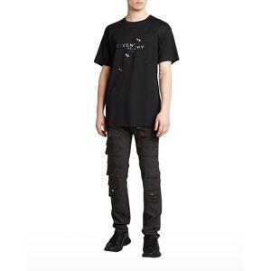 Givenchy Men's Trompe L'oeil Ring Oversized T-Shirt - Size: LARGE - BLACK