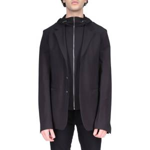 Givenchy Men's 2-in-1 Sport Jacket with Hooded Bib - Size: 52R EU (41R US) - BLACK
