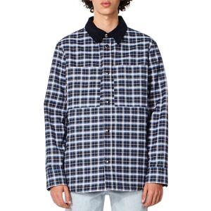 A.P.C. Men's Tibo Plaid Shirt Jacket - Size: 2X-LARGE - BLUE