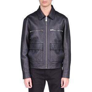 Givenchy Men's 4G-Print Leather Jacket - Size: 50 EU (34R US) - BLACK