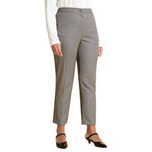 Marina Rinaldi Plus Size Radicale Wool-Silk Cigarette Trousers - Size: 18 - BLUBCO