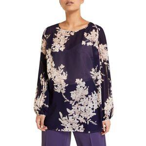 Marina Rinaldi Plus Size Fiorenza Floral Chiffon Blouse - Size: 18 - CHINA BLUE