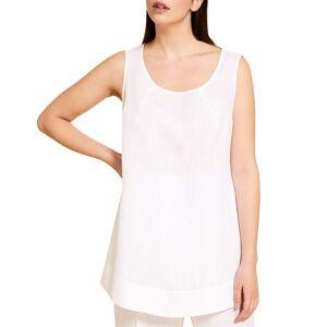 Marina Rinaldi Plus Size Bicocca Sleeveless Top - Size: 18 - WHITE