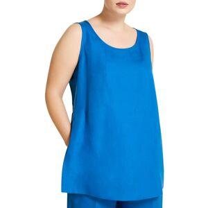 Marina Rinaldi Plus Size Bicocca Sleeveless Top - Size: 18 - CHINA BLUE