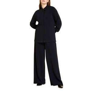 Marina Rinaldi Plus Size Ramon Wide-Leg Pants - Size: 18 - DARK NAVY