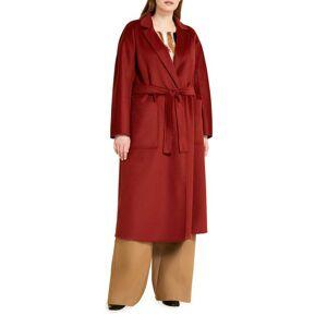 Marina Rinaldi Plus Size Tempera Double-Face Wool Coat - Size: 18 - RUST