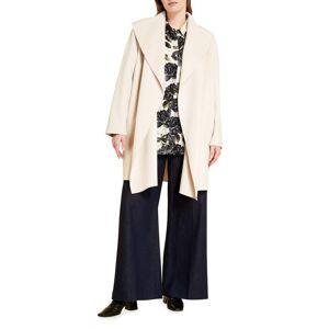 Marina Rinaldi Plus Size Biosfera Floral-Print Silk Shirt - Size: 18 - WHITE