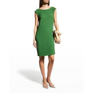 Trina Turk Horizon Cowl-Back Shift Dress - Size: 4 - JUNIPER