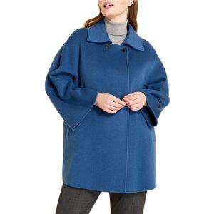 Marina Rinaldi Plus Size Natalia Double-Face Coat - Size: 18 - CHINA BLUE