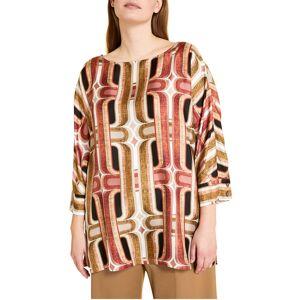 Marina Rinaldi Plus Size Fatato Silk Twill Tunic - Size: 18 - BORDEAUX