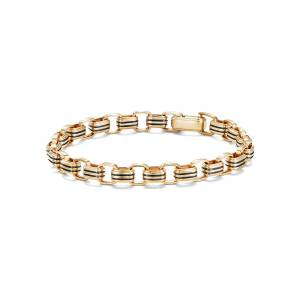 David Yurman Men's 5mm 18k Gold Southwest Link Bracelet, Size M - Size: MEDIUM - GOLD