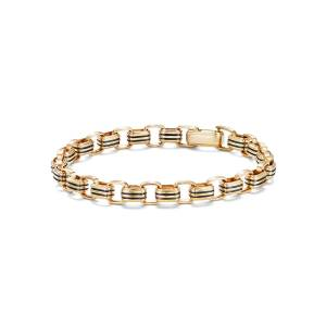 David Yurman Men's 5mm 18k Gold Southwest Link Bracelet, Size L - Size: LARGE - GOLD