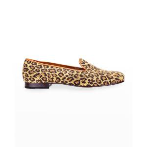 Stubbs and Wootton Jane True Needlepoint Cheetah Slippers - Size: 7.5B - NATURAL