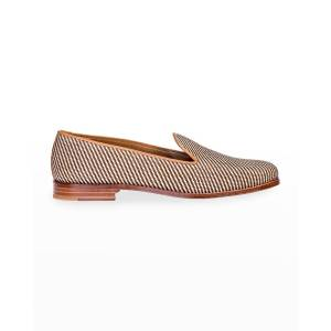 Stubbs and Wootton Woven Straw Slippers - Size: 10.5B - NATURAL