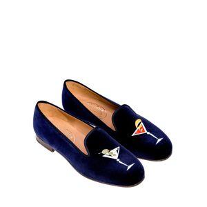 Stubbs and Wootton Martini Velvet Slippers - Size: 8.5B - NAVY