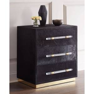 Interlude Home Cassian Hairhide 3-Drawer Chest - Size: unisex