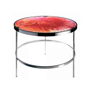 Imprevisible Side Table in Solar Red & Amber - Size: unisex