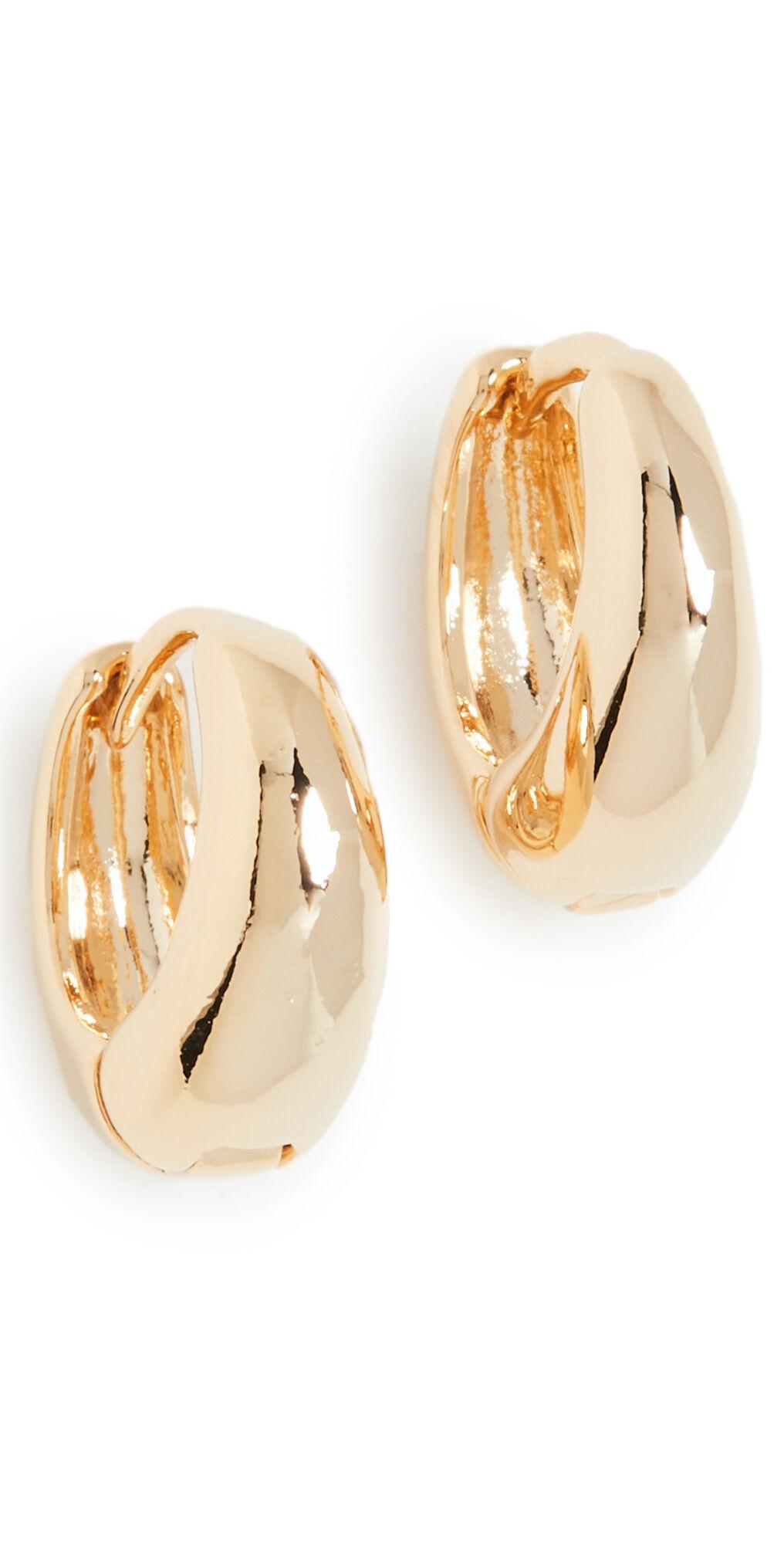 Theia Jewelry Oli Petite Hoops  - Gold - Size: One Size
