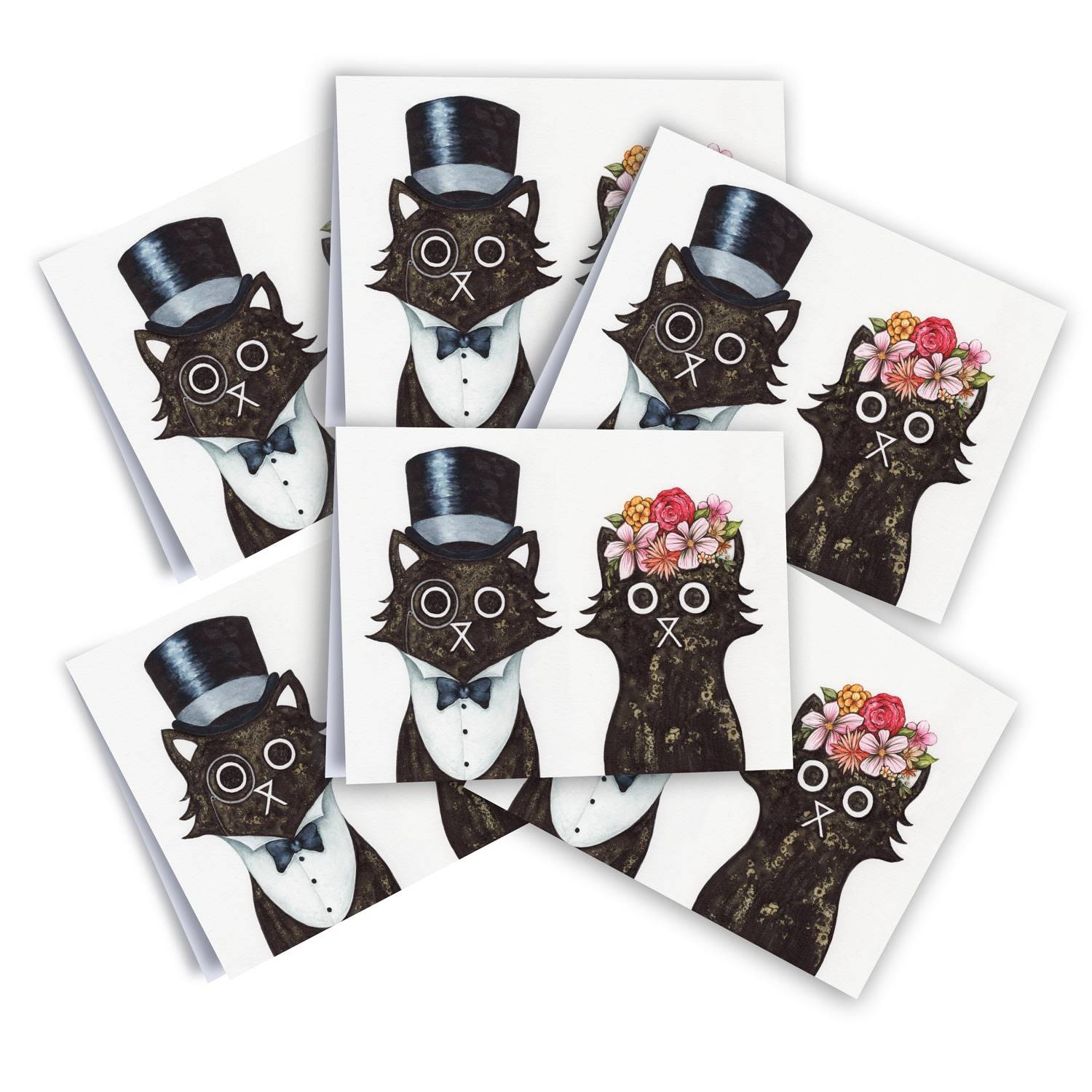 Baldy And The Fidget Artisanal Lord & Lady Cards Pack of 6 Baldy And The Fidget