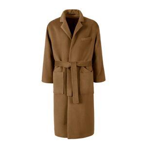 AQVAROSSA Women's Artisanal Brown Wool Azrou Oversized Alpaca Coat Camel XL AQVAROSSA