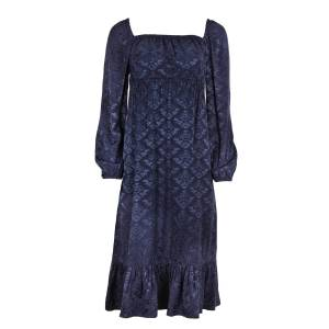 blonde gone rogue Women's Recycled Navy Sustainable Empire Dress In XXS blonde gone rogue
