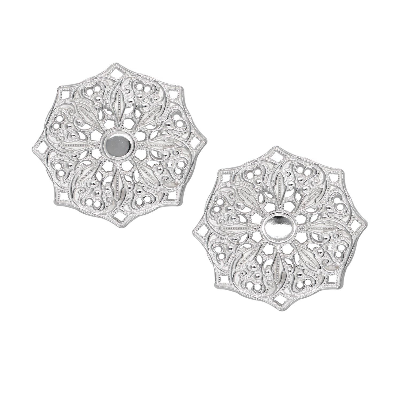 Lucy Ashton Jewellery Women's Artisanal Silver Mandala Stud Earrings Lucy Ashton Jewellery