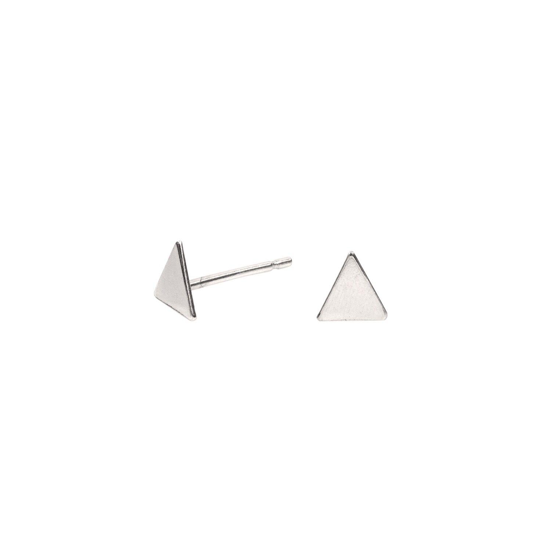 Lucy Ashton Jewellery Women's Artisanal Sterling Silver Tiny Triangle Stud Earrings Lucy Ashton Jewellery