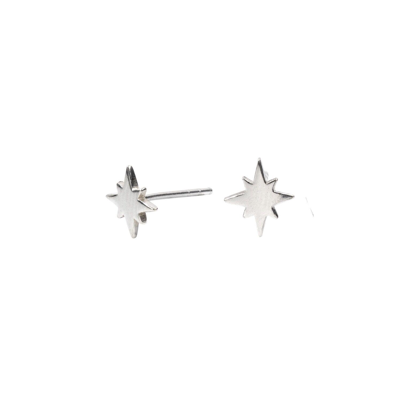 Lucy Ashton Jewellery Women's Artisanal Sterling Silver Tiny Star Stud Earrings Lucy Ashton Jewellery