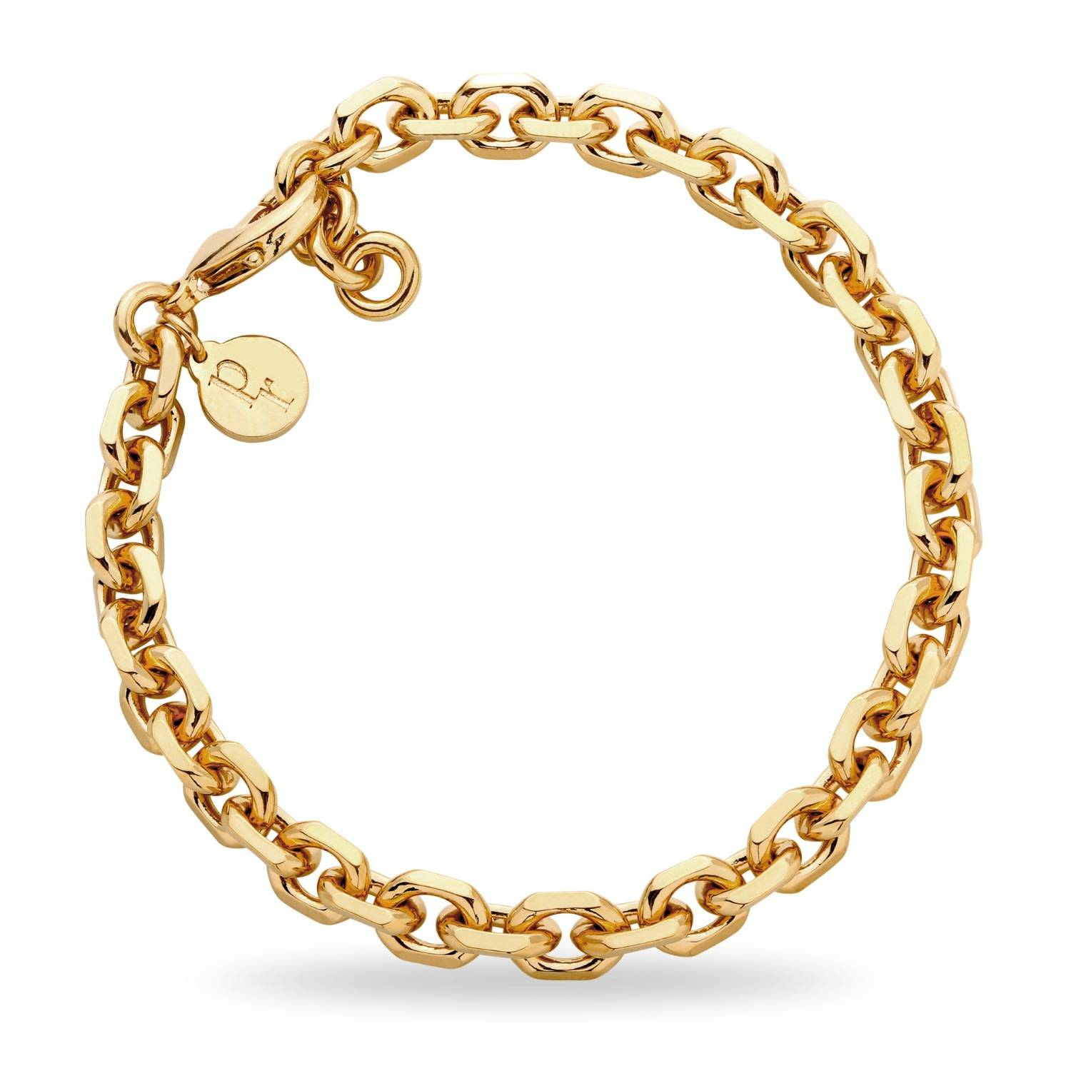 Patty Rose Jewellery Women's Recycled Gold Brass Chain No.10 Bracelet Patty Rose Jewellery