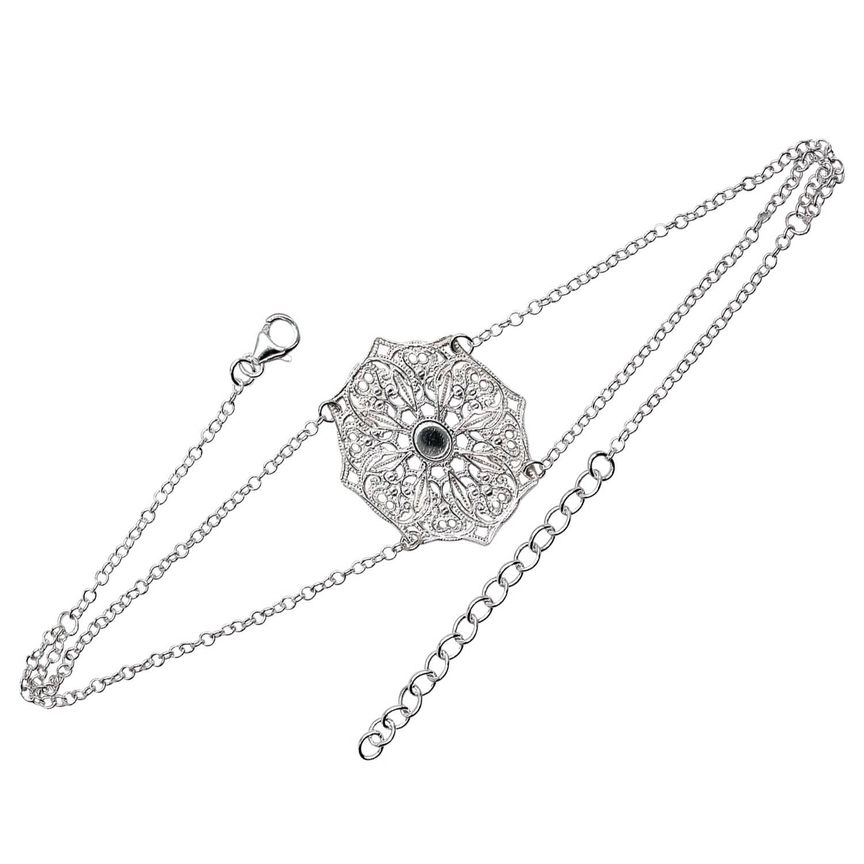 Lucy Ashton Jewellery Women's Artisanal Silver Mandala Choker Necklace Lucy Ashton Jewellery