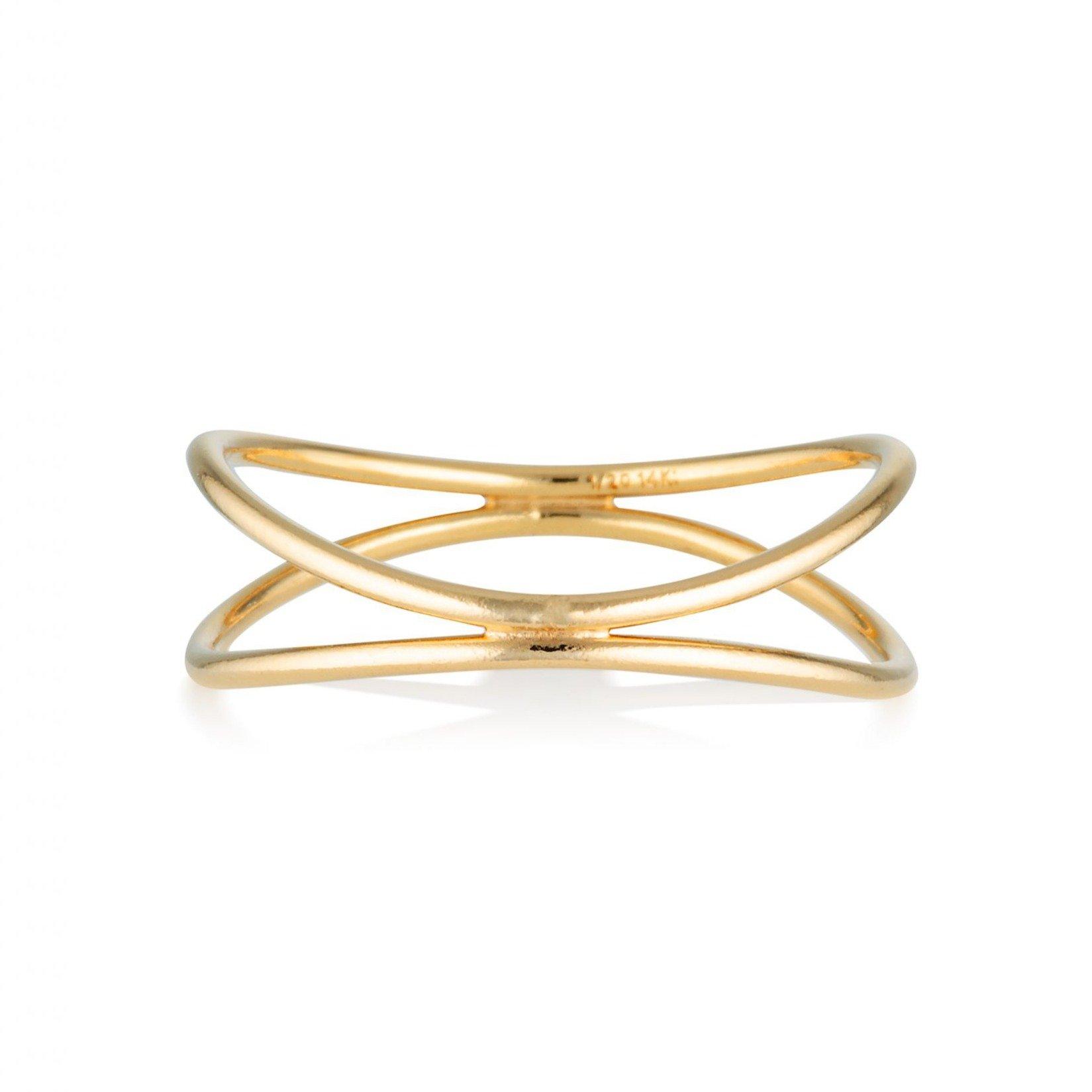 Sahara Jewellery Women's Gold Cotton Wave Ring Sahara Jewellery