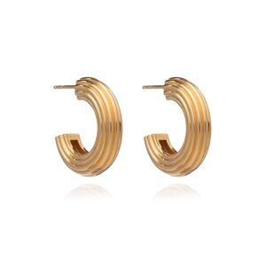 Jackson Women's Gold Chunky Ridged Hoop Earrings Rachel Jackson