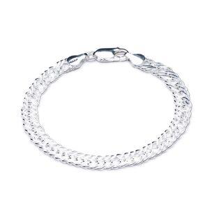 Jackson Women's Silver Statement Chevron Chain Bracelet Rachel Jackson