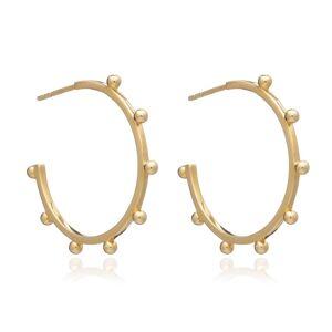 Jackson Women's Gold Large Punk Hoop Earrings Rachel Jackson