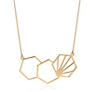 Jackson Women's Gold Serenity Hexagon Necklace Rachel Jackson