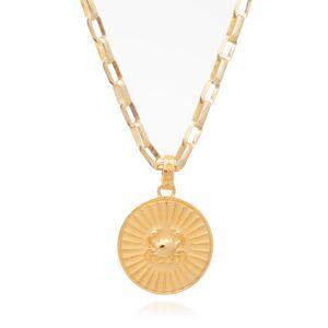 Jackson Women's Gold Statement Zodiac Art Coin Cancer Necklace Rachel Jackson
