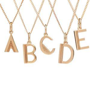 Jackson Women's Gold Art Deco Initial Necklace Rachel Jackson