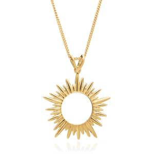 Jackson Women's Gold Electric Goddess Medium Sun Necklace Rachel Jackson
