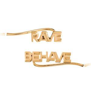 Jackson Women's Gold Rave Behave Crawler Earrings Rachel Jackson