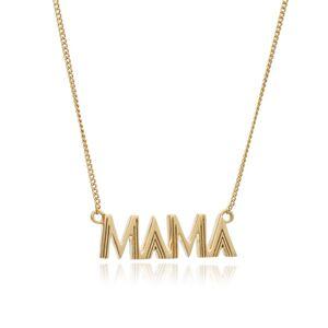 Jackson Women's Gold Art Deco Mama Necklace Rachel Jackson