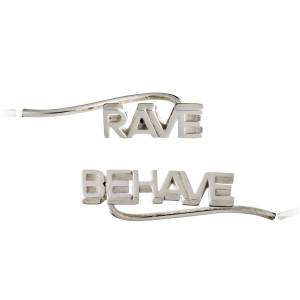 Jackson Women's Silver Rave Behave Crawler Earrings Rachel Jackson