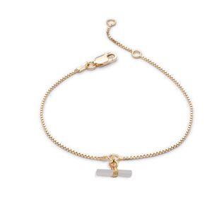 Jackson Women's Pearl Mini Mother Of T-Bar Gold Bracelet Rachel Jackson