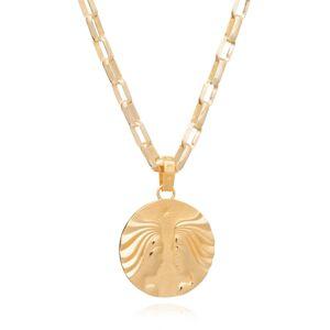 Jackson Women's Gold Statement Zodiac Art Coin Gemini Necklace Rachel Jackson