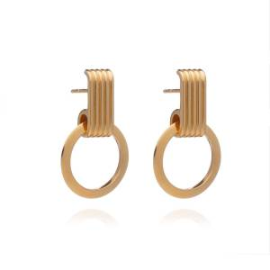Jackson Women's Gold Eternity Circle Hoop Earrings Rachel Jackson