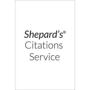 Shepard's United States Citations (U.S. edition) Cases and Federal Statutes