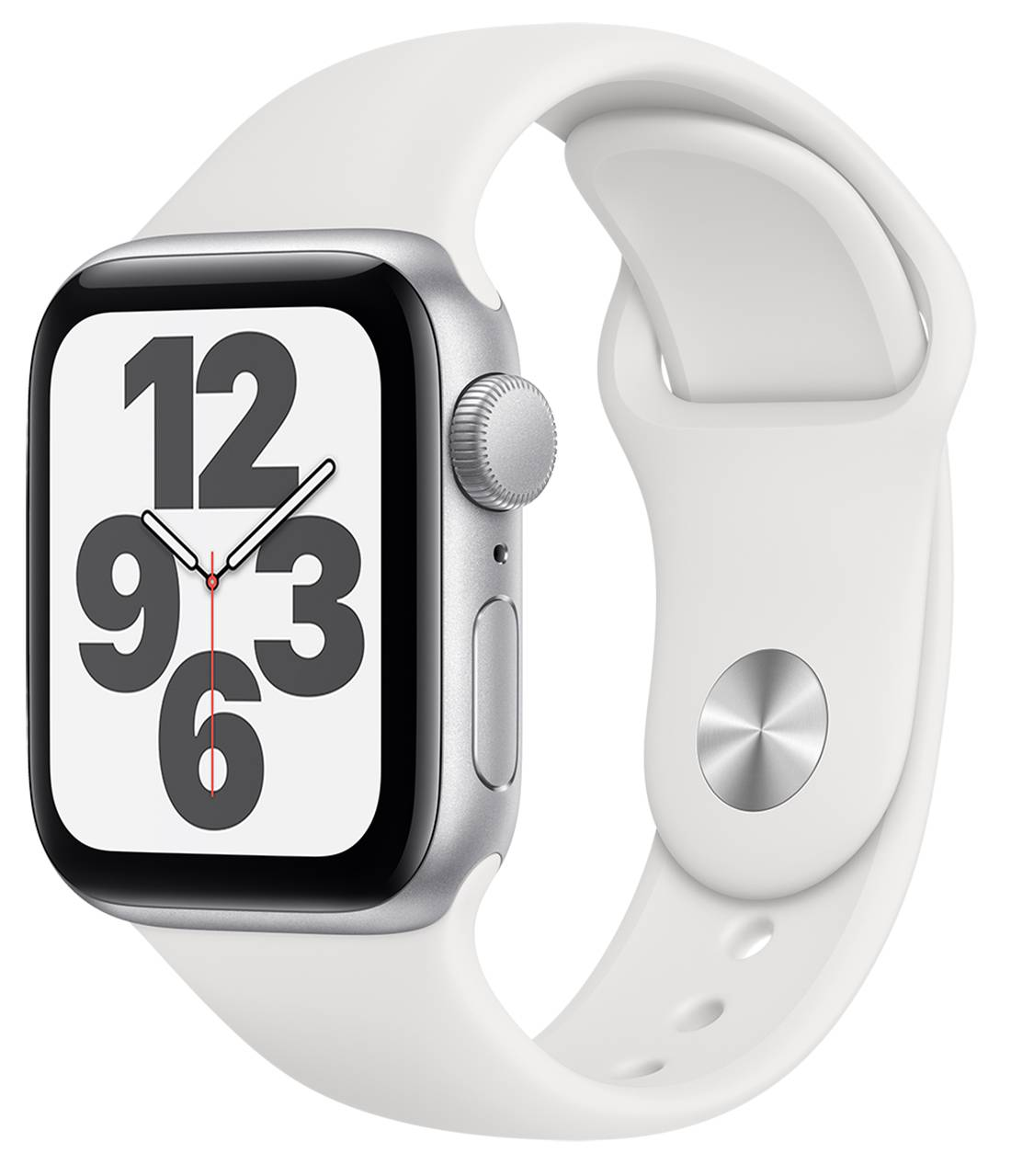 Apple Watch SE GPS 40mm Silver Aluminum Case With White Sport Band