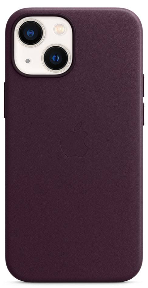 Apple iPhone 13 mini Dark Cherry Leather Case With MagSafe