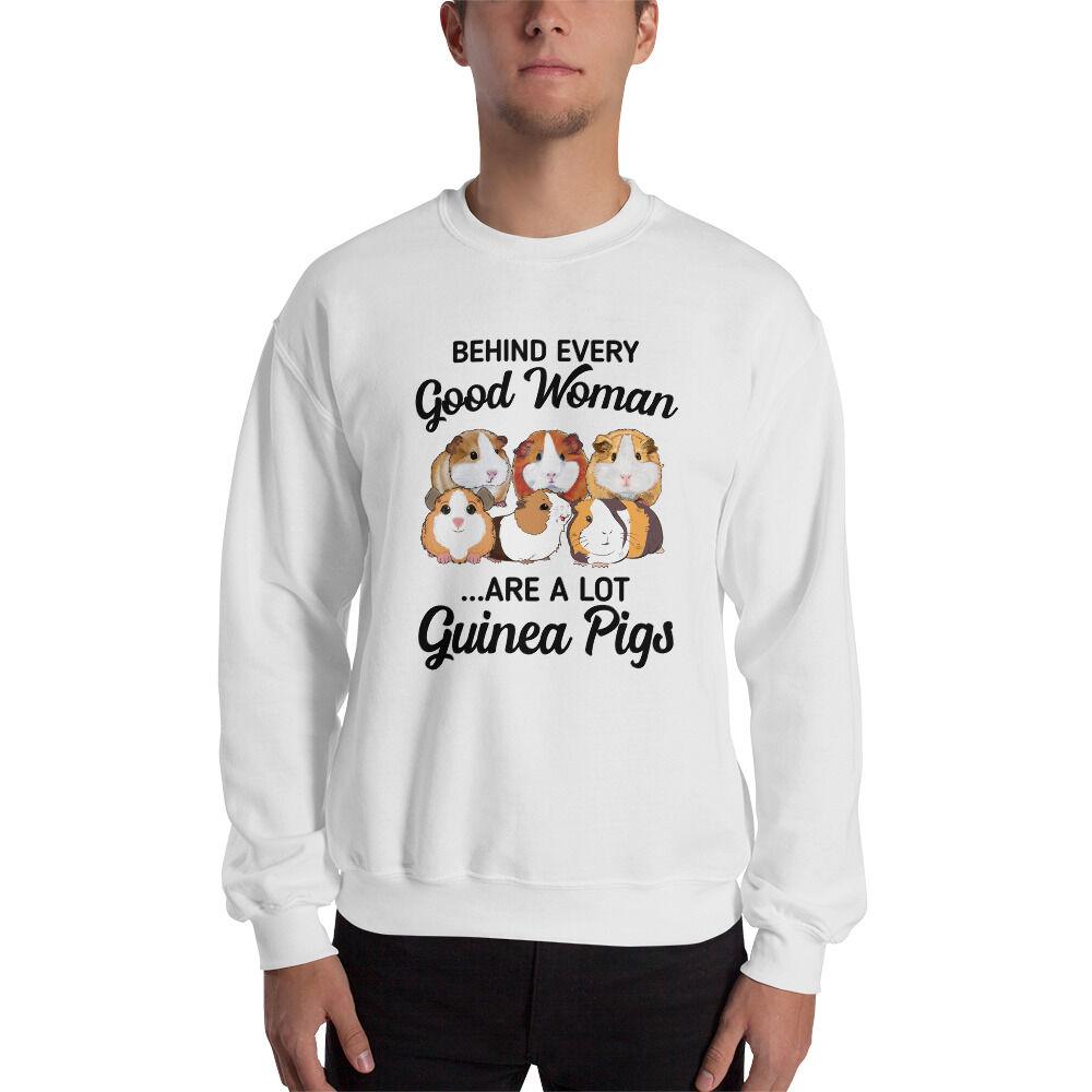 Zonibee Behind Every Good Women Is A Lot Guinea Pig Unisex Sweatshirt Sport Grey / L
